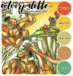 Treasure-Chest Farbpalette